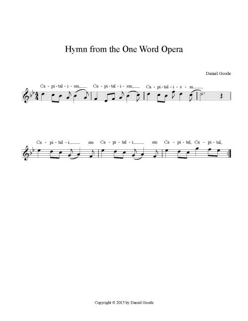 Hymn from the One Word Opera